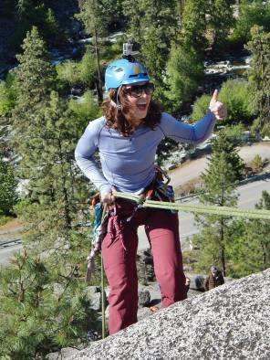So excited to rappel past a knot