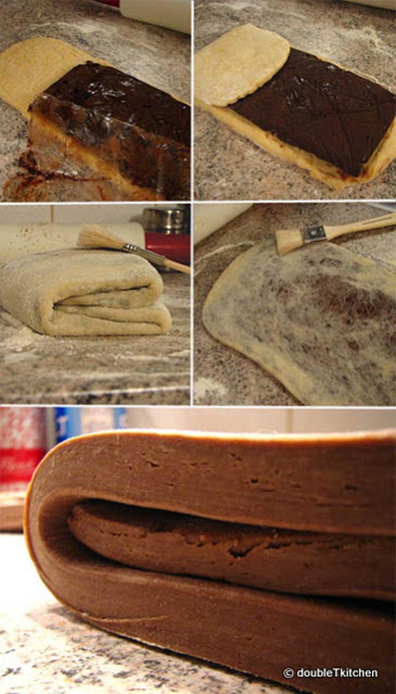 čokoladno lisnato tijesto