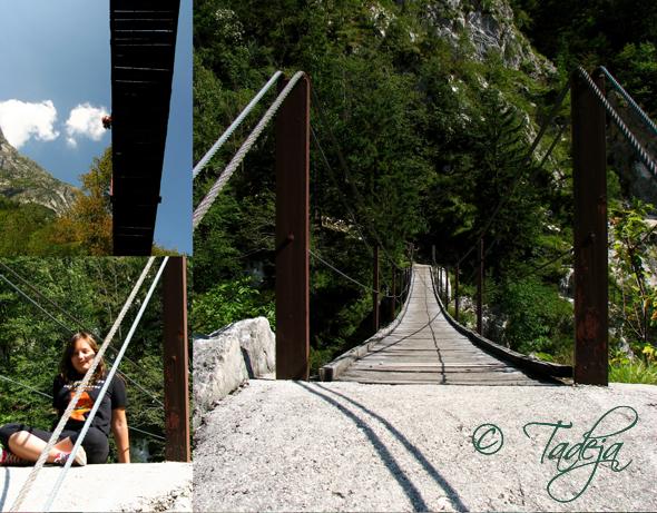 Soča - viseći mostovi