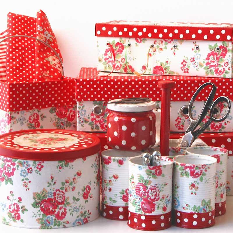 polka dots and roses kutije
