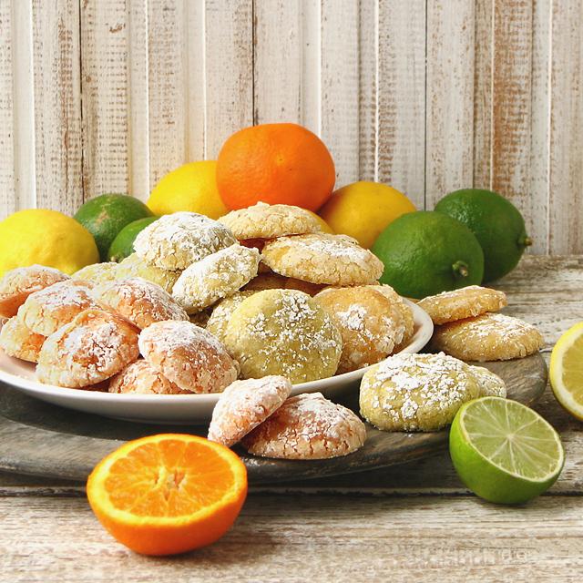 citrus crinkle cookies
