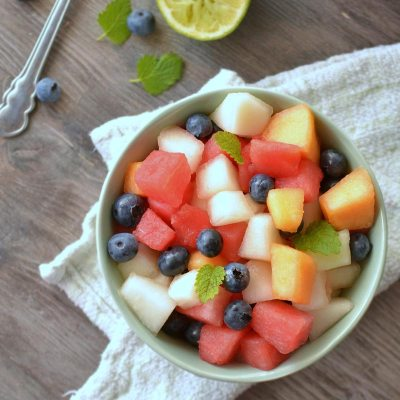 Salata od dvije vrste dinja i lubenice