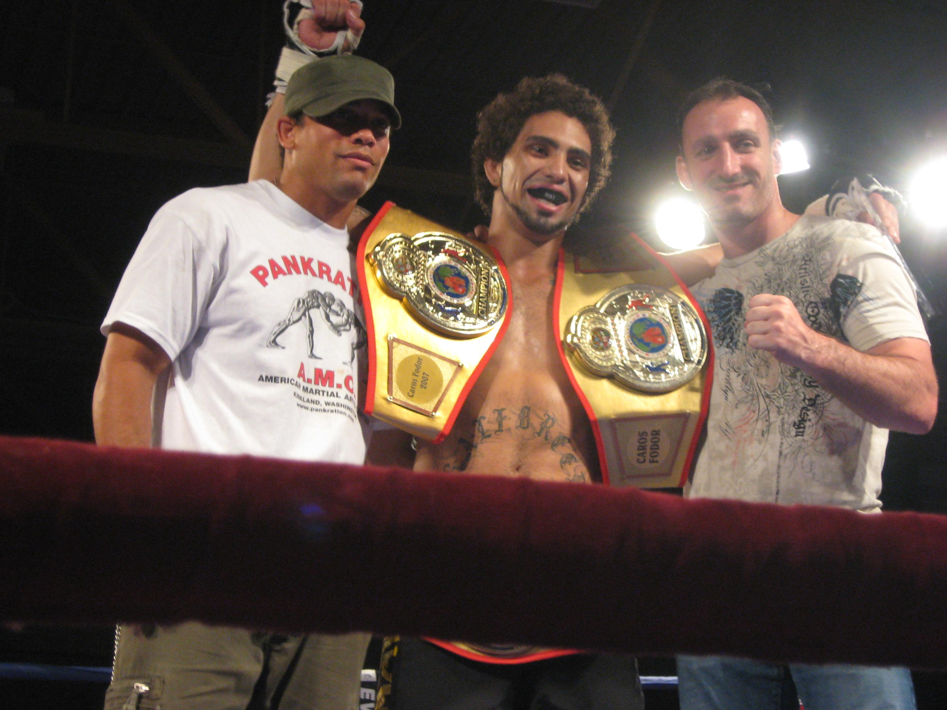 Caros Fodor with Trevor Jackson (left) and Matt Hume (right)