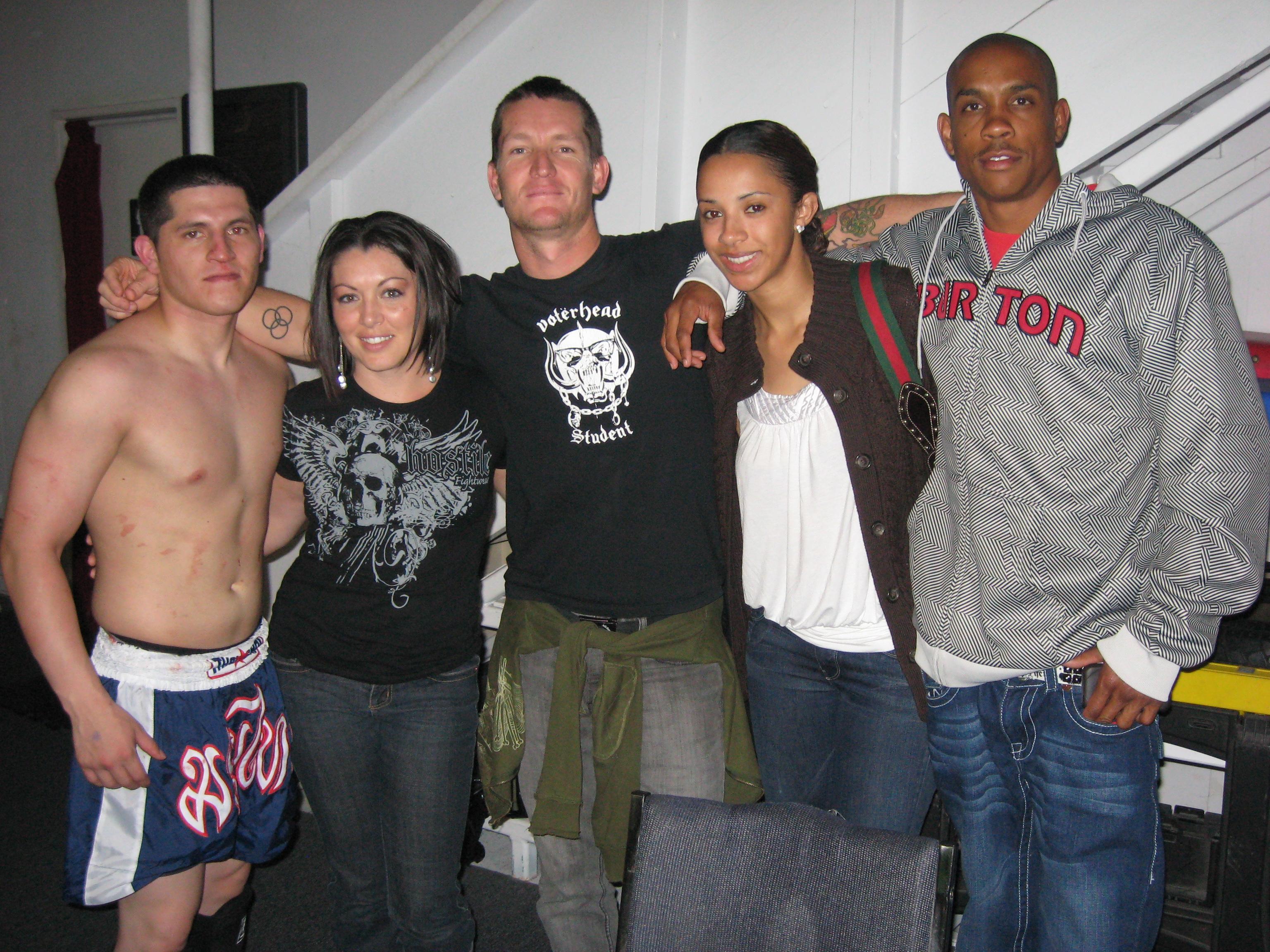 Legends' fight team represented for James Acosta's (left) debut.
