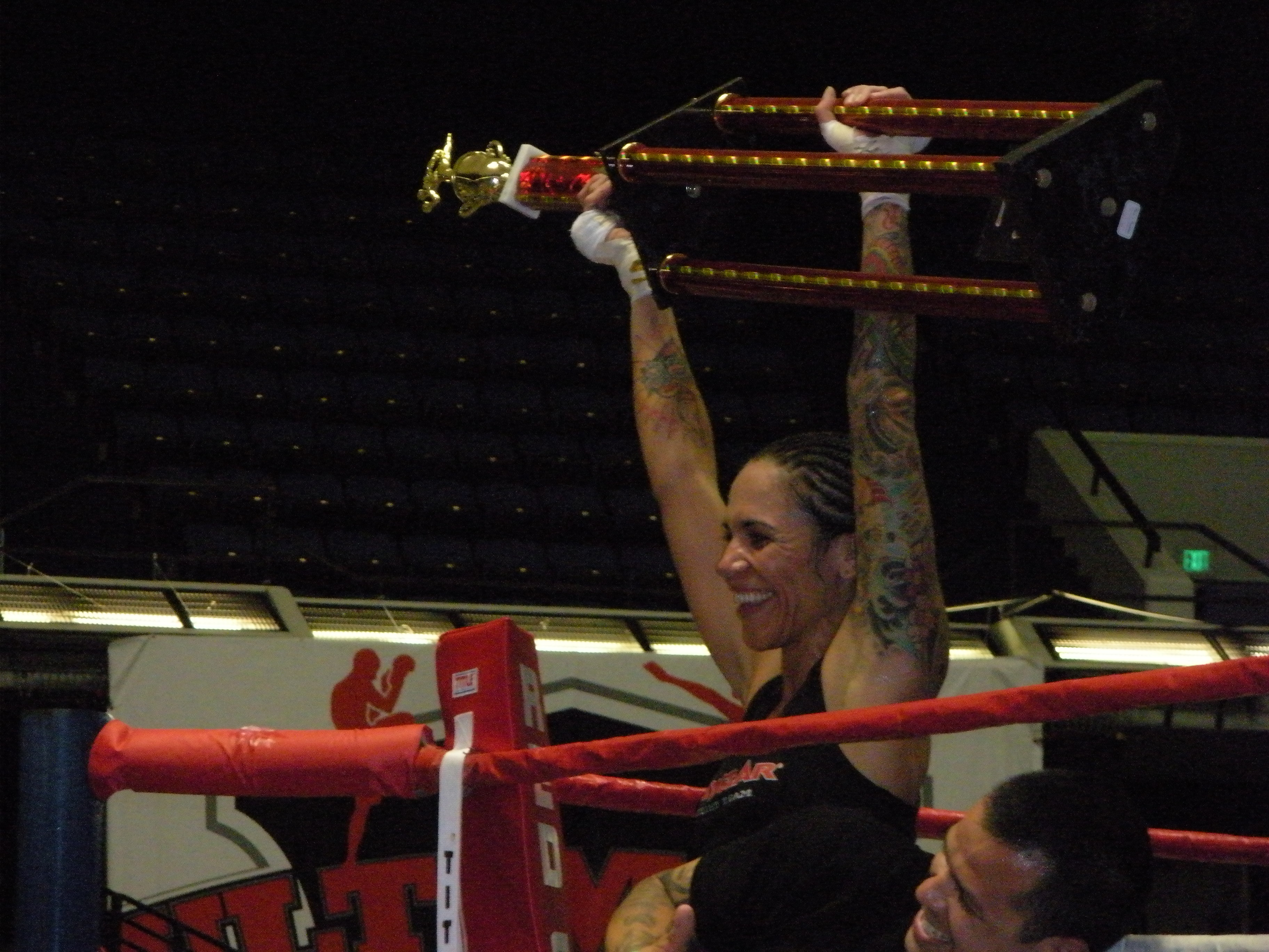 'Yo Adrian!' - Balboa triumphs in her pro debut.