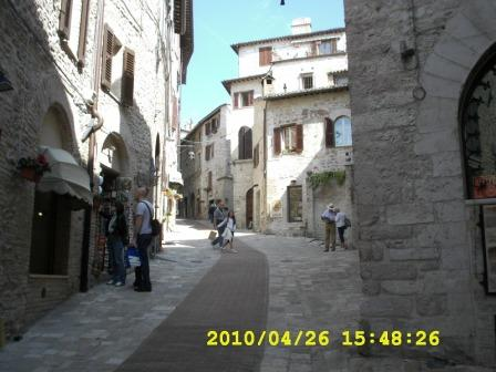 Eating in Assisi