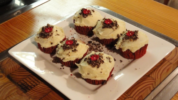 Red Velvet Cupcakes with Vanilla Bean Cream Cheese Frosting for Friday's Food Quiz Number 64