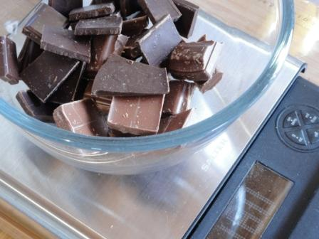 weigh the chocolate