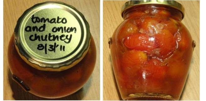 """Tomato And Onion Chutney"""