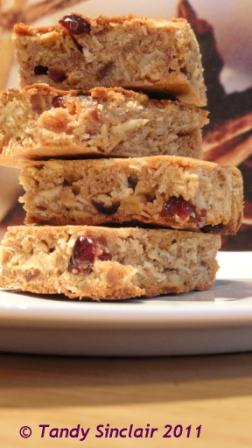 """Cranberry And Oat Slices"""