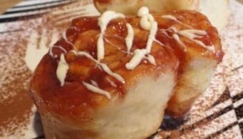 cinnamon buns with Lemon Icing