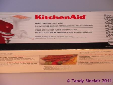 """kitchen aid sausage stuffer attachment"""