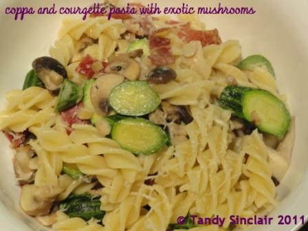 """Coppa And Courgette Pasta With Exotic Mushrooms"""