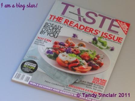 Taste Magazine November 2011