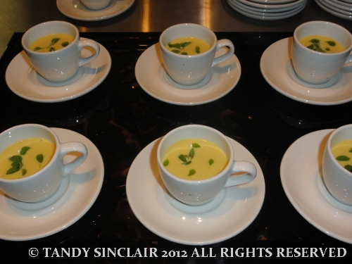 sweetcorn and basil velouté