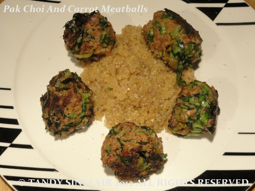 Pak Choi And Carrot Meatballs in answer to Friday's Food Quiz Number 34