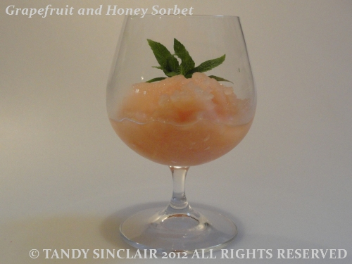Grapefruit And Honey Sorbet