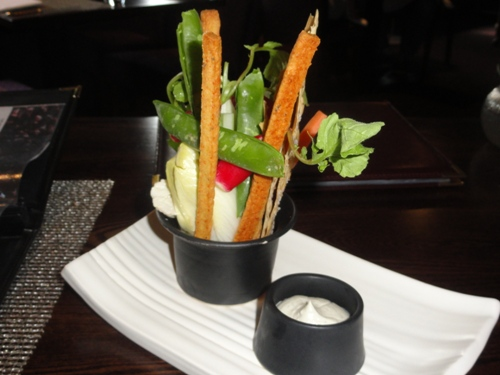 crudites to snack on while we read the menu The Kitchin