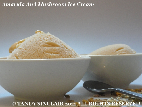 Amarula And Mushroom Ice Cream
