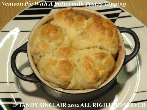 """Venison Pie With A Buttermilk Pastry Topping"""