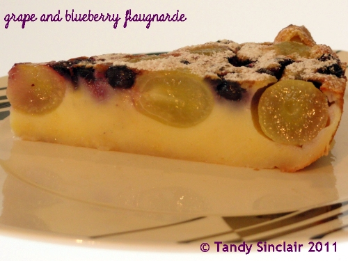 Grape And Blueberry Flaugnarde