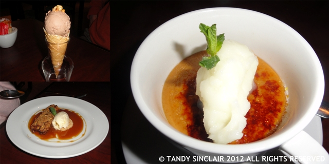 desserts at Arugula