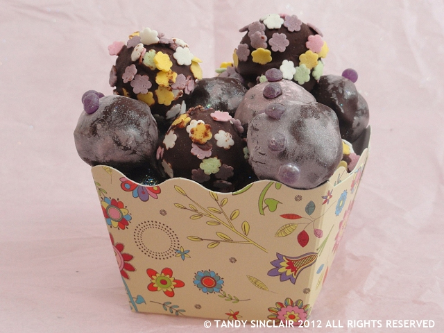 a box of cake pops