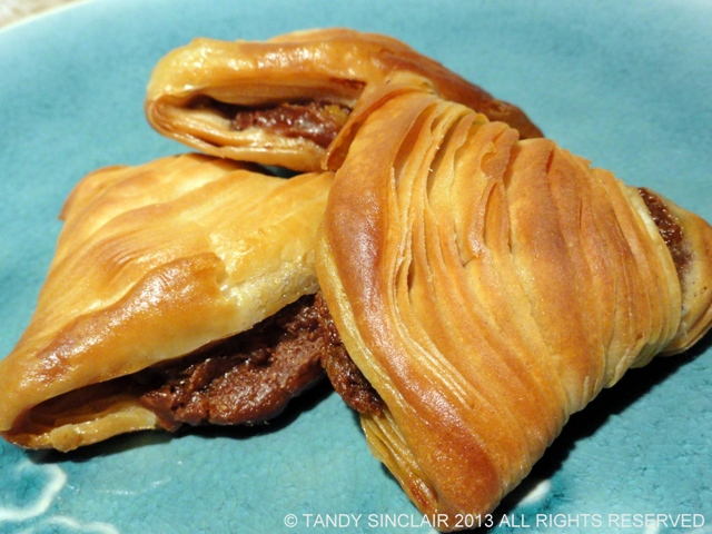 Chocolate And Orange Sfogliatelle with Chocolate Confectioners Custard