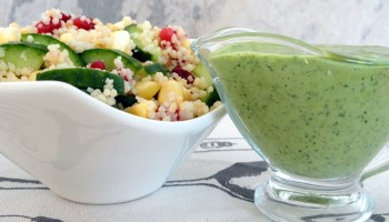 Cous Cous Salad With A Lime And Coriander Dressing