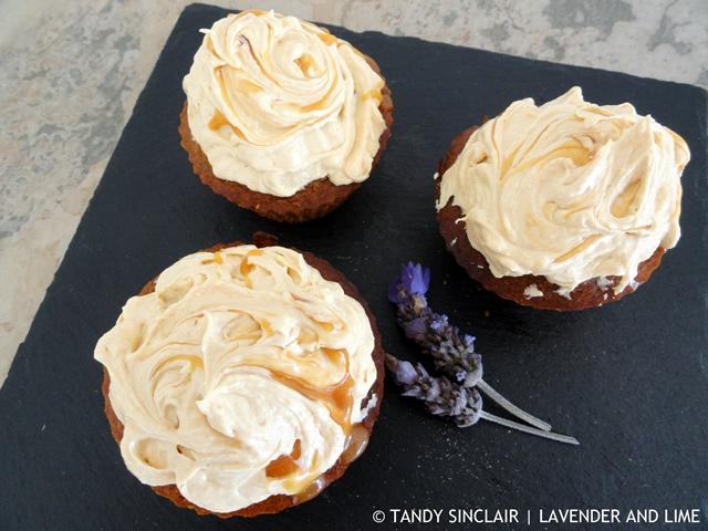 """Lavender Caramel Cupcakes"""