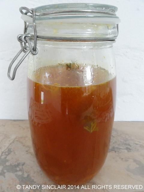 """Citrus Liqueur During Fermentation"""