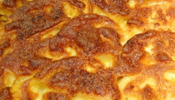 A Perfectly Topped Meatball Lasagne