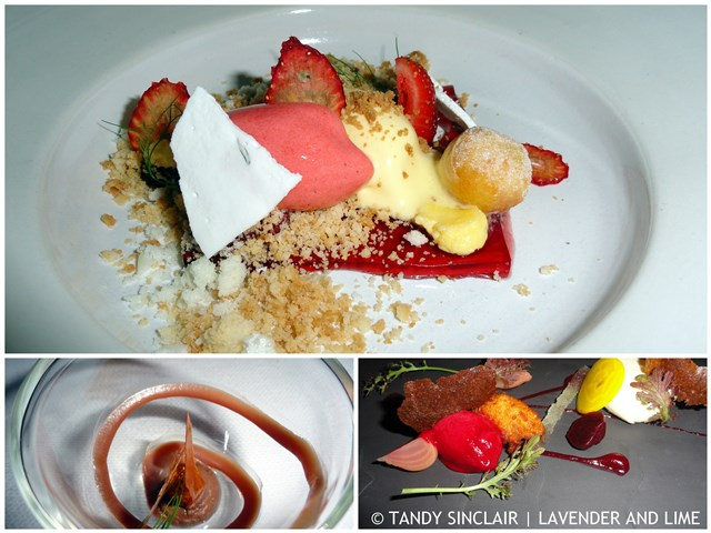 The desserts at Rust en Vrede