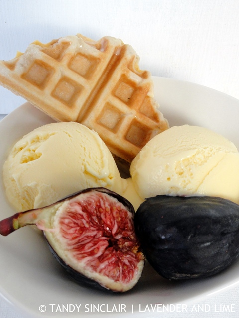 Filled Waffles With Honey Truffle Ice Cream And Figs