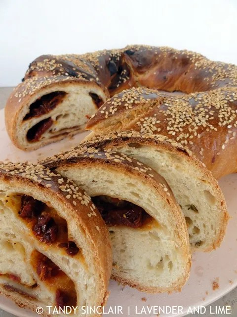 Sun Dried Tomato And Rosemary Twist Bread