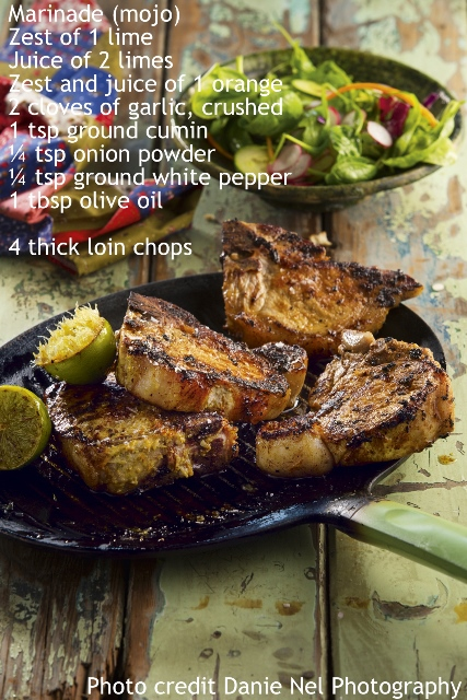 Cuban-style pork chops - extracted from World Atlas of Food