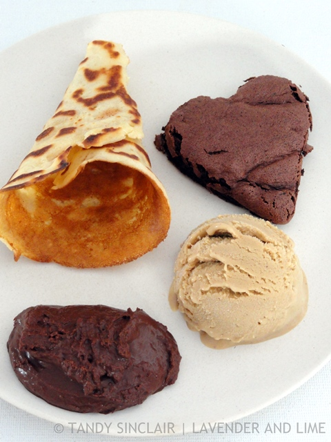 Dessert Platter Including Licorice Ice Cream