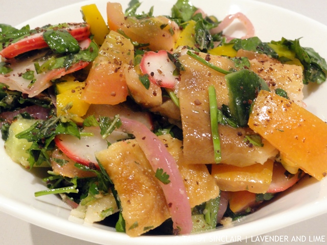Fattoush With Pickled Red Onions