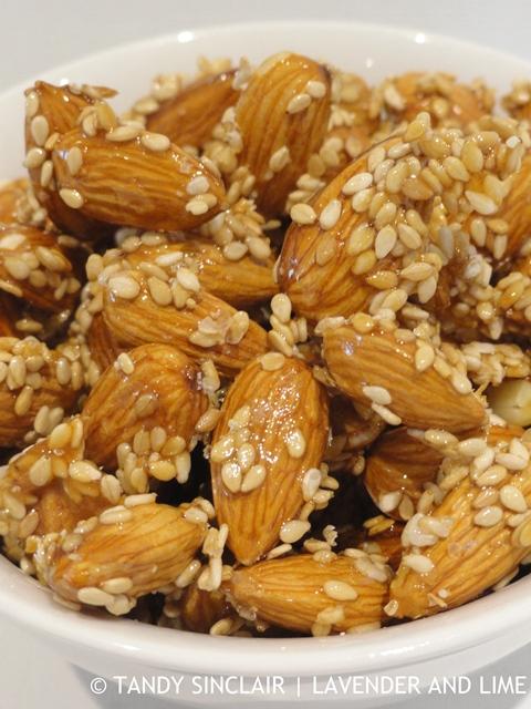 Sesame Coated Almonds