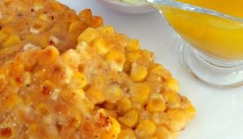 Corn Fritters, Honey Salad Dressing, Coriander Mayonnaise