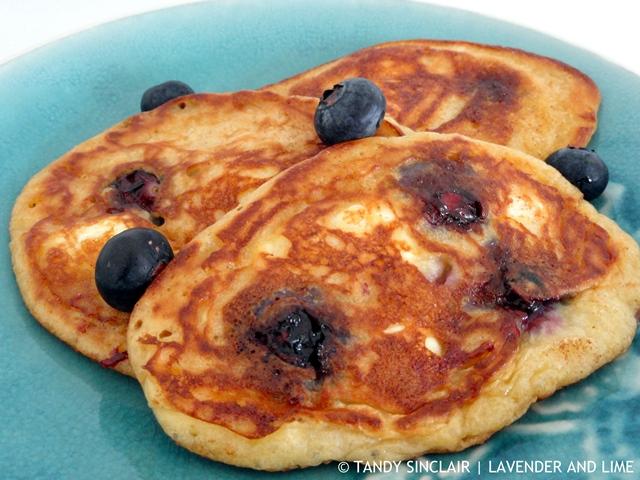 Blueberry Cheesecake Pancakes