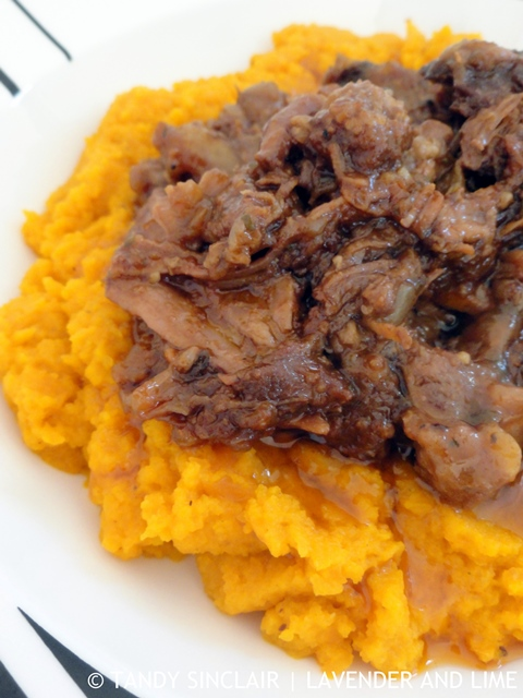 Beef Barbacoa On A Bed Of Curried Carrot Mash