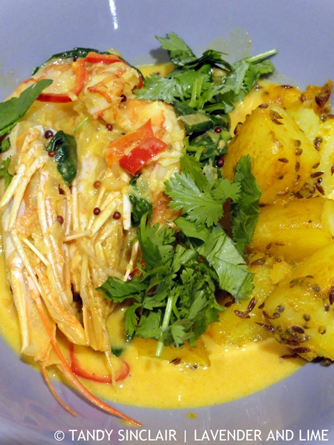 Bombay Potatoes With Kerala Prawn Curry