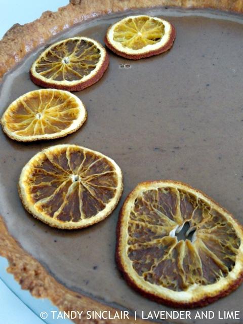 Mocha Tart And Dried Oranges
