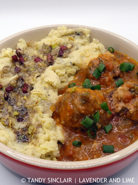 Black Pudding Meatballs With Brown Butter Colcannon