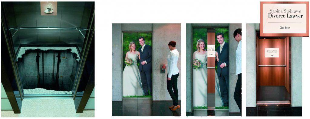 marketing guerrilla ascensor
