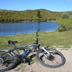 Exercise and mental health. It is easy to see why this bike ride to a remote lake could be beneficial.