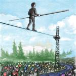 Balance in mental health - like walking a tightrope.