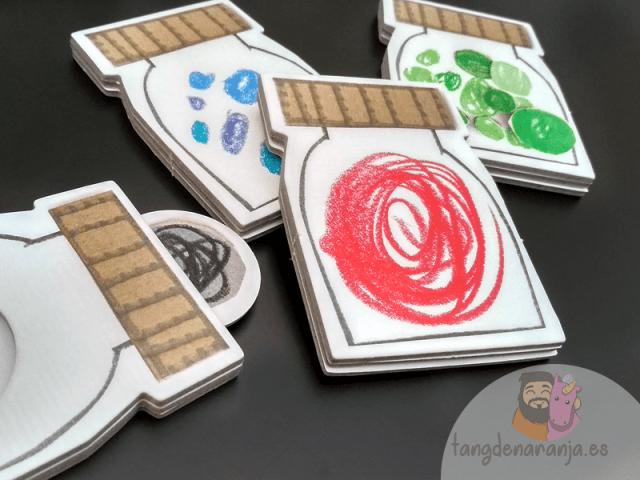 El monstruo de colores juego de mesa anna llenas emociones tarros