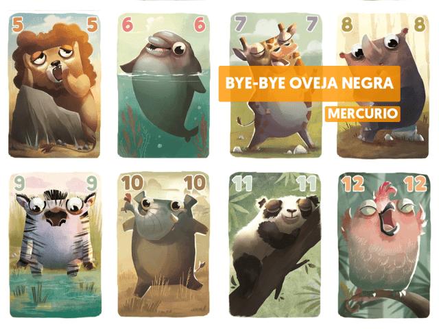 bye bye oveja negra juego de mesa reseña como se juega cartas mercurio
